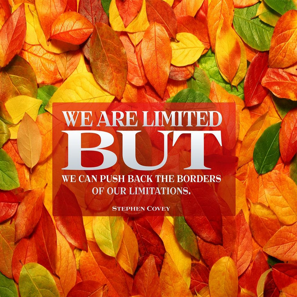 We are limited but we can push back the borders of our limitations