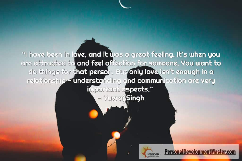 Love isn't enough in a relationship - understanding and communication are very important aspects.