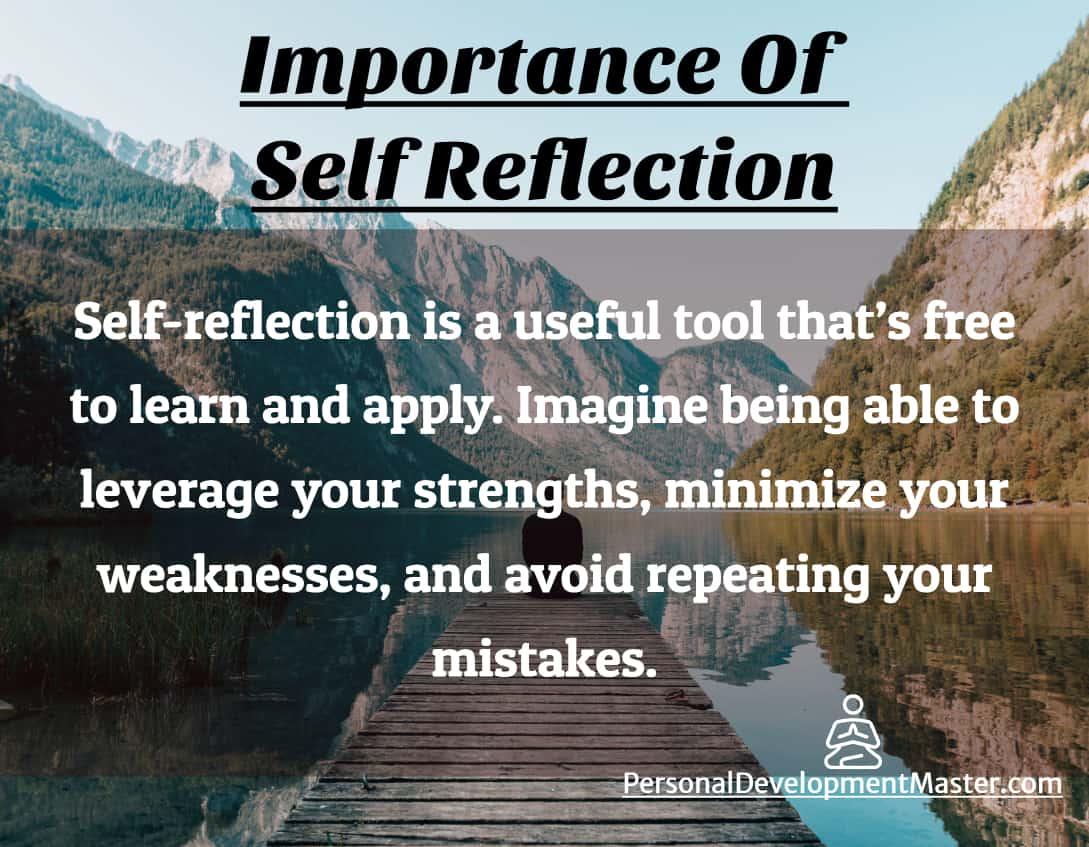 reflection self importance improvement successful personal happier development