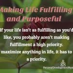A Busy Person's Guide to Making Your Life More Fulfilling and Purposeful