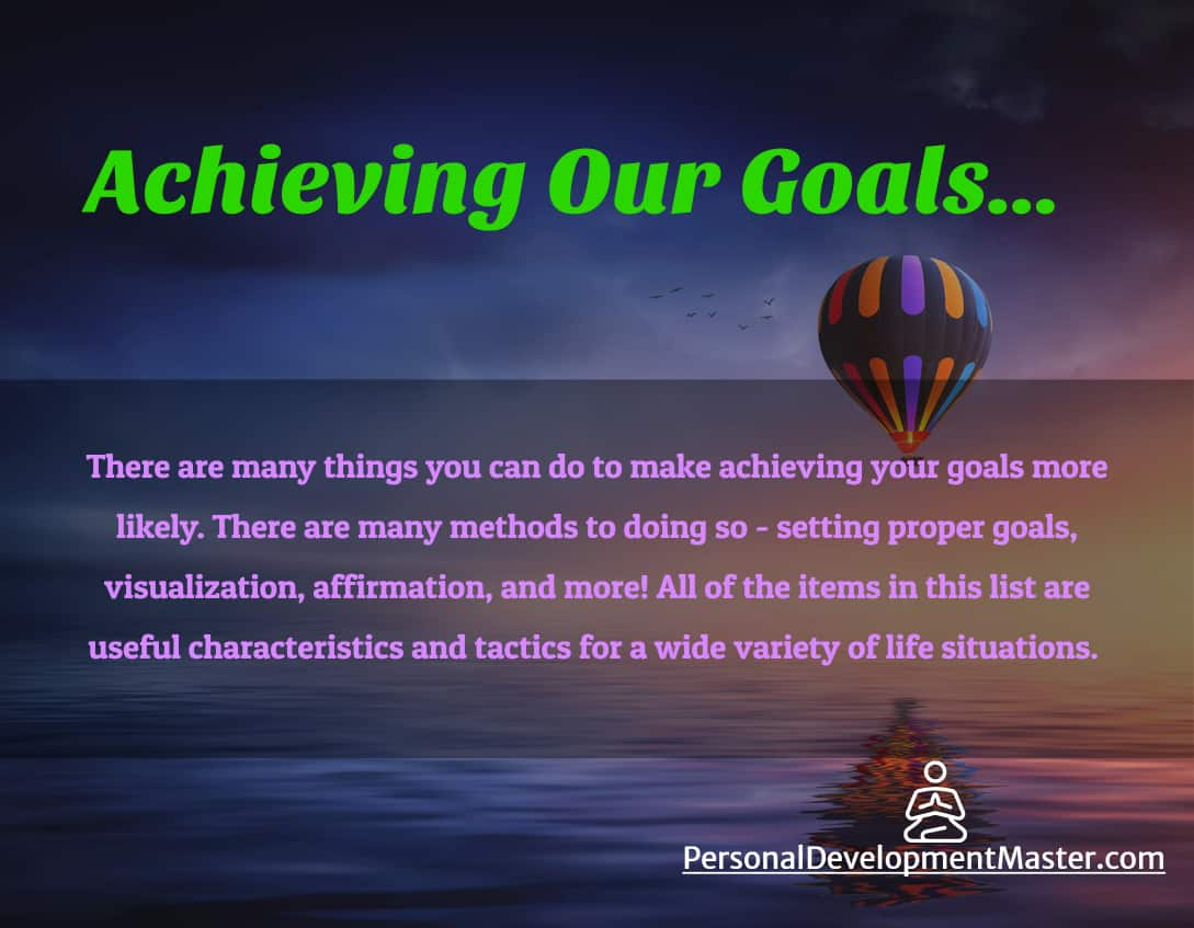 Tips to achieving our goals